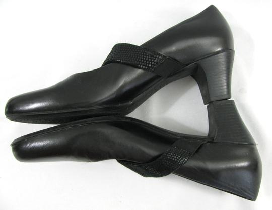 Munro American Kid Gabro Mary Jane 8.5 N Dress Heels Leather Rubber Sole Usa black Pumps