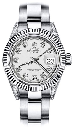 Preload https://img-static.tradesy.com/item/24133120/rolex-stainless-steel-ivory-26mm-datejust-18k-white-gold-and-ss-diamond-shoulders-oyster-watch-0-1-540-540.jpg