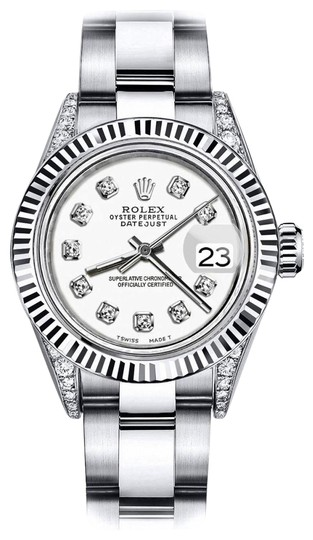 Preload https://img-static.tradesy.com/item/24133135/rolex-stainless-steel-ivory-track-26mm-datejust-18k-white-gold-diamond-lugs-watch-0-1-540-540.jpg