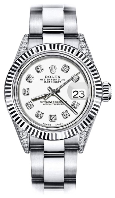 Rolex Stainless Steel Ivory Track 26mm Datejust 18k White Gold / Diamond Lugs Watch Rolex Stainless Steel Ivory Track 26mm Datejust 18k White Gold / Diamond Lugs Watch Image 1