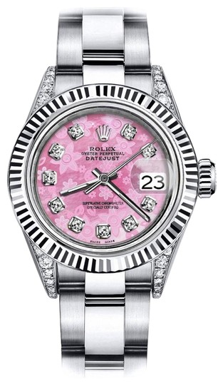 Preload https://img-static.tradesy.com/item/24133174/rolex-stainless-steel-pink-pearl-track-26mm-datejust-18k-gold-fluted-bezel-watch-0-1-540-540.jpg