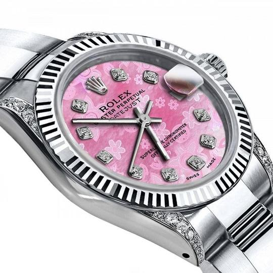 Rolex Rolex Pink Pearl Track 26mm Datejust Steel / 18K Gold Fluted Bezel