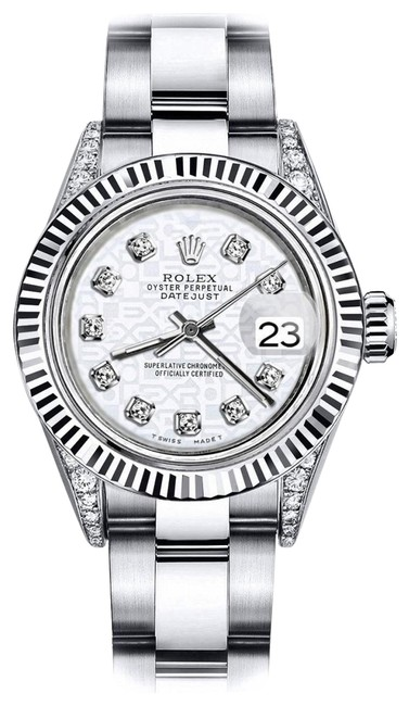 Rolex Stainless Steel White Logo 26mm Datejust 18k White Gold Bezel & Ss Watch Rolex Stainless Steel White Logo 26mm Datejust 18k White Gold Bezel & Ss Watch Image 1