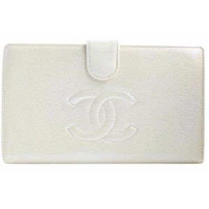 Chanel Chanel Timeless CC Caviar Leather Portefeuille Long Wallet