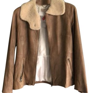 Banana Republic light brown leather Leather Jacket