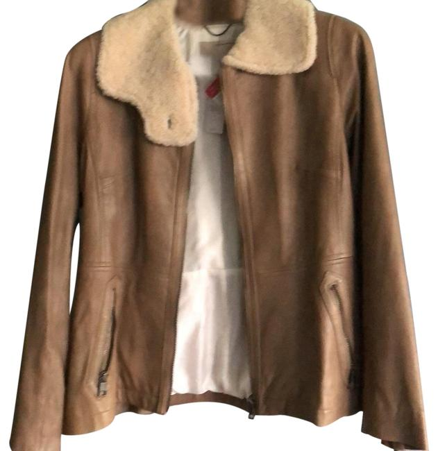 Item - Light Brown Leather Jacket Size 8 (M)