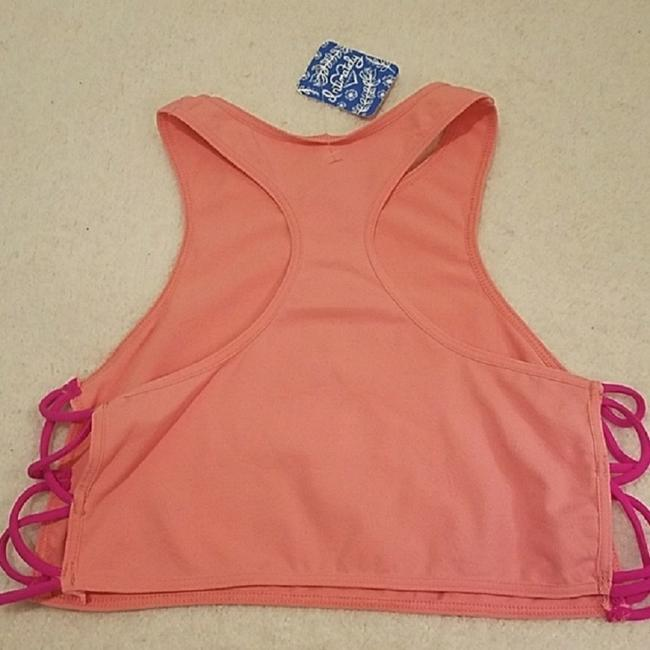 Free People Racer-back Crisscross Strap Bralette Intimately Top Coral