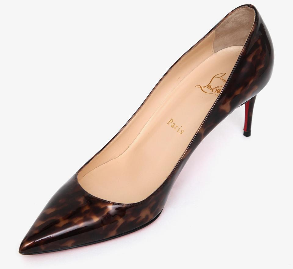 2ae6efd11f9e Christian Louboutin Brown Patent Leather Decollete 554 70 Tartaruga Pumps  Size EU 39 (Approx. US 9) Regular (M