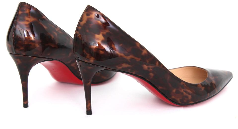 2ebbbaa796d3 Christian Louboutin Patent Leather Decollete Red Bottom Brown Pumps Image  9. 12345678910