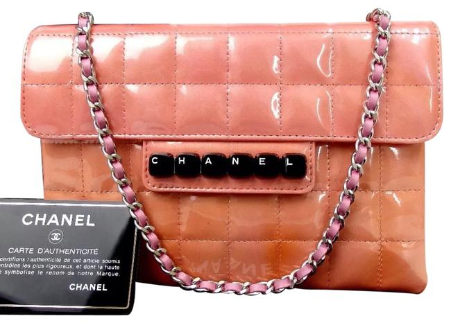 Chanel Wallet on Chain Classic Cc Quilted Flap Enamel Limited Special Edition Pink Patent Leather Shoulder Bag Chanel Wallet on Chain Classic Cc Quilted Flap Enamel Limited Special Edition Pink Patent Leather Shoulder Bag Image 1