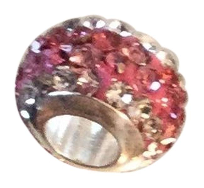 Item - Pink and Crystal Cz On A Like Pandora Exquisite Detail Shine. 5mm Hole Opening European Fit Charm