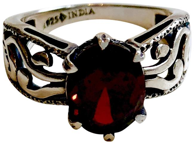 Item - Red Super-rare Sterling Silver Deep Oval Cz #2751 Size 7 Ring
