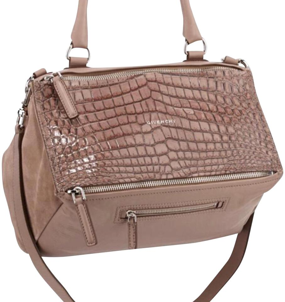 a5d2d4eded3e Givenchy Pandora Python Leather Taupe Blush Cross Body Bag - Tradesy