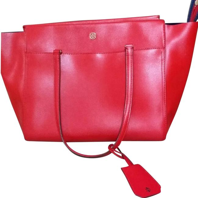 Tory Burch Parker Cherry Red Tote Tory Burch Parker Cherry Red Tote Image 1