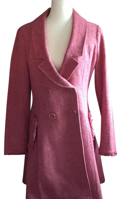 Preload https://img-static.tradesy.com/item/24133961/cabi-pink-boucle-trench-coat-size-6-s-0-1-650-650.jpg