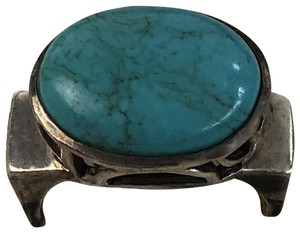 Silpada Sterling Silver Oval Blue Turquoise Ring #0786 size 7 (fits 6.75)