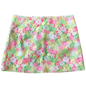 Lilly Pulitzer Mini Skirt Pink Yellow Green