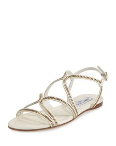 Jimmy Choo white /silver (nickel) Sandals