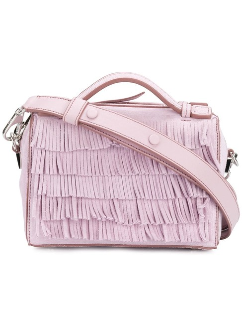 Tod's W New W/ Tag 2018 Handmade Bauletto Micro Fringed Lilac Suede Shoulder Bag Tod's W New W/ Tag 2018 Handmade Bauletto Micro Fringed Lilac Suede Shoulder Bag Image 1