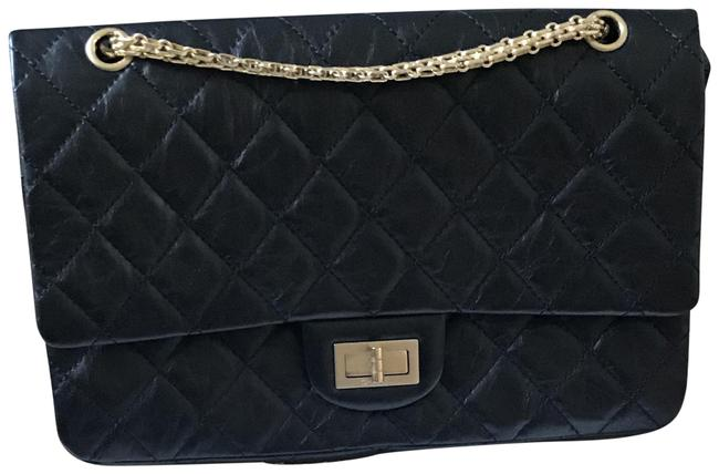 Chanel 2.55 Handbag Reissue Quilted Aged 227 Black Calfskin Shoulder Bag Chanel 2.55 Handbag Reissue Quilted Aged 227 Black Calfskin Shoulder Bag Image 1