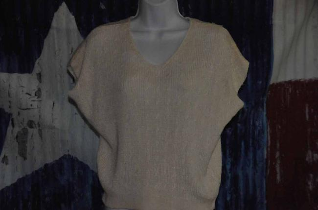Evan Picone Knit Pre Owned Size 10 M Top Off White