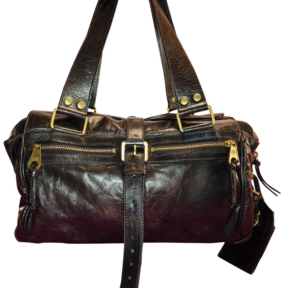 6227ccab94d6 Mulberry Dark Chocolate Mabel Brown Leather Satchel - Tradesy