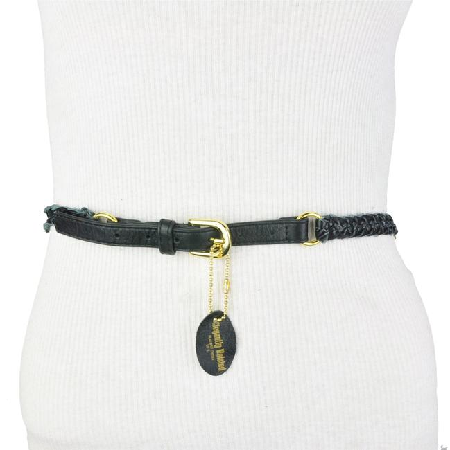 Trina Turk Black Faux Leather Double Chain Braided Belt Trina Turk Black Faux Leather Double Chain Braided Belt Image 1