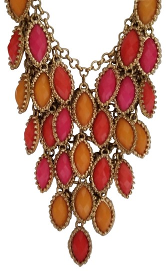 Preload https://img-static.tradesy.com/item/24134452/francesca-s-pink-yellow-orange-and-gold-pastel-bead-strand-necklace-0-24-540-540.jpg