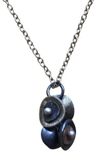 Artist-made Mixed metal pendant necklace