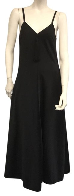 Preload https://img-static.tradesy.com/item/24134617/lanvin-black-with-tassle-vinatge-coctail-long-night-out-dress-size-8-m-0-4-650-650.jpg