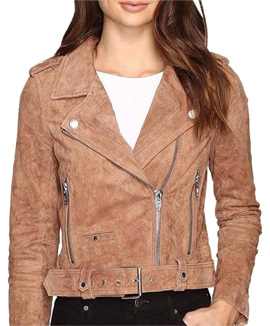 Item - Coffee Bean Suede Moto Jacket Size 0 (XS)