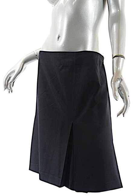 Item - Black Box Wool A-line Front Center Inverted Pleat Skirt Size 12 (L, 32, 33)