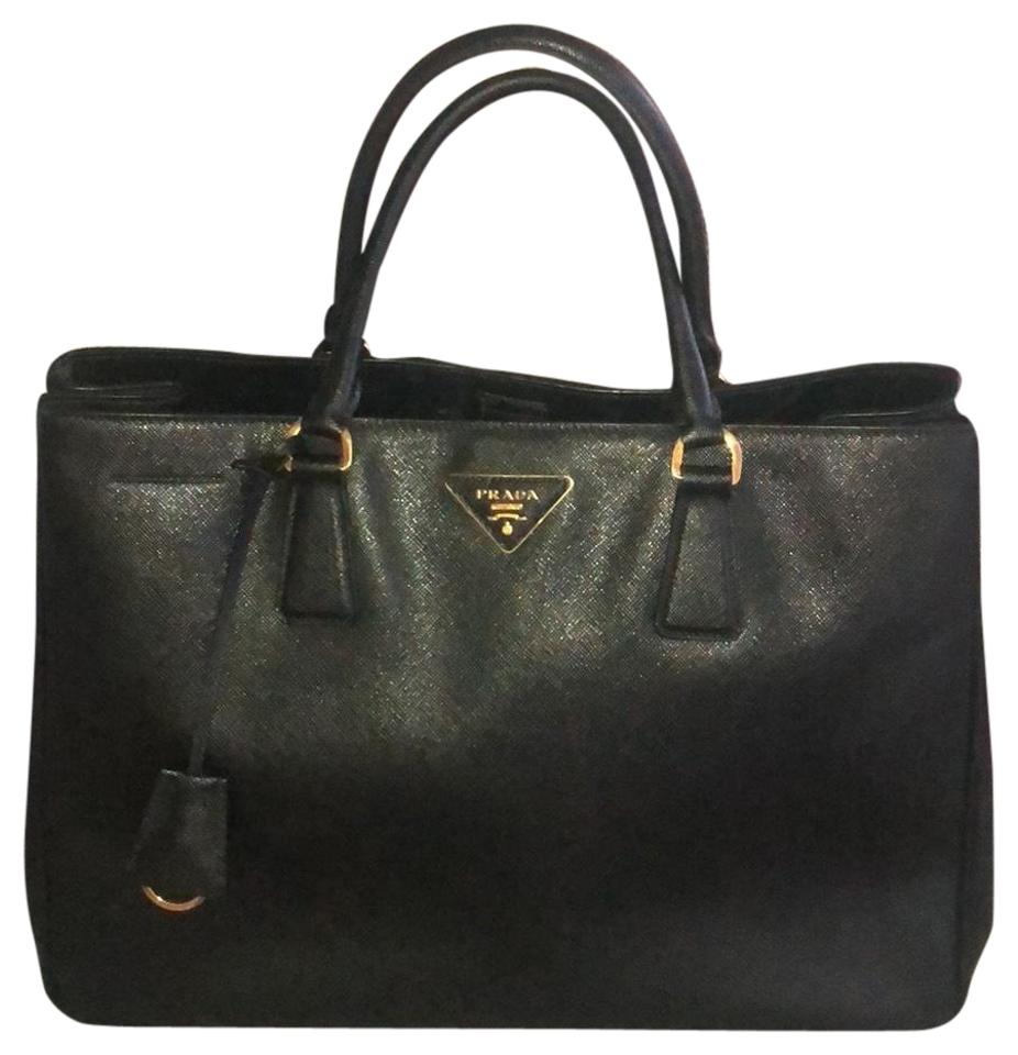 3d856a430f53 Prada Galleria Lux Large Black Saffiano Leather Tote - Tradesy