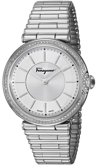 Preload https://img-static.tradesy.com/item/24134767/salvatore-ferragamo-stainless-steel-silver-bracelet-diamond-dial-fin050015-swiss-watch-0-1-540-540.jpg