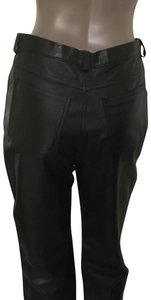 Vera Pelle Real Straight Pants Black geniune fine Italian leather, new without tag, made in italy