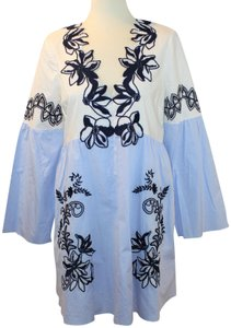 Blue, white and black Maxi Dress by Tanya Taylor