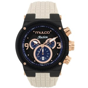 Mulco MW312140115 Unisex Beige Silicone Band With Black Analog Dial Watch