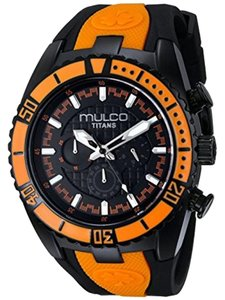 Mulco MW51836615 Unisex Black Silicone Band With Black Analog Dial Watch