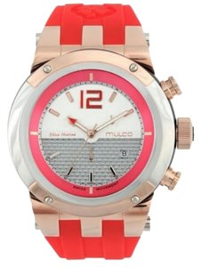 Mulco MW51621061 Unisex Red Rubber Band With Two Tone Analog Dial Watch