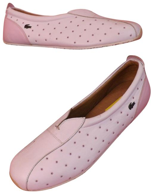 Lacoste White Rose Pink Perforated Leather Muse Sporty 42 Flats Size US 10 Regular (M, B) Lacoste White Rose Pink Perforated Leather Muse Sporty 42 Flats Size US 10 Regular (M, B) Image 1