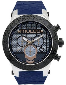 Mulco MW52331044 Men's Blue Silicone Band With Blue Analog Dial Watch
