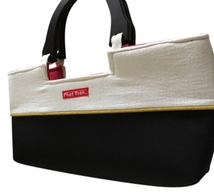 Phat Tran Black, White with Red interior Clutch