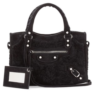 Balenciaga Mini City Exotic Tote in Black
