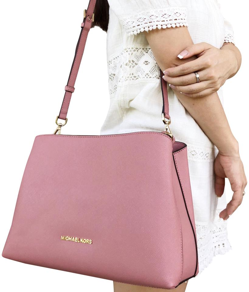 082ac62ee954 Michael Kors Sofia Portia Large East West Crossbody Pink Leather ...