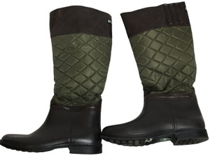 Cougar Rainboots Quilted Equestrian Green Boots