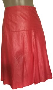V. Christina Skirt Red faux leather