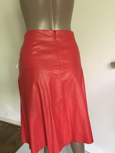 V. Christina Skirt Red faux leather Image 1