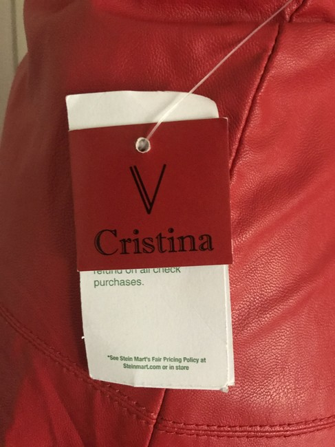 V. Christina Skirt Red faux leather Image 3