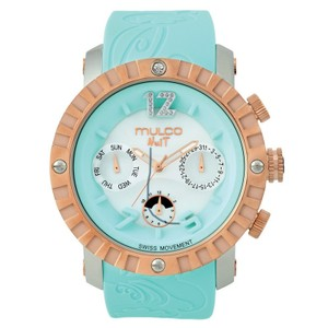 Mulco MW51876413 Unisex Turquoise Silicone Band With Turquoise Analog Dial