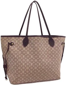 Louis Vuitton Louis Vuitton Monogram Mini Lin Idylle Neverfull MM